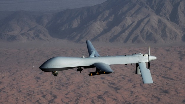 MQ-1 Predator unmanned aircraft image courtesy of the US Air Force